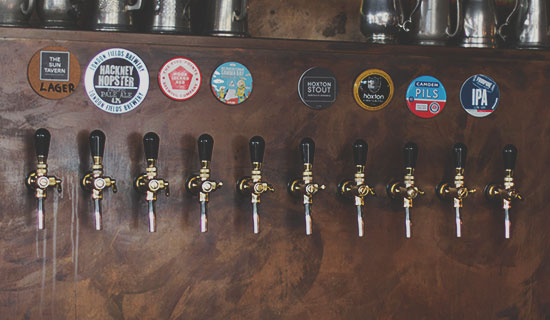 Beer Taps - Draft Fine Ales - Bar in Bethnal Green